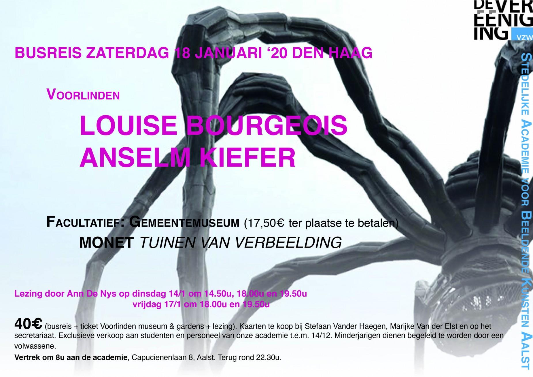 Busreis zaterdag 18 januari '20 Den Haag / Louise Bourgeois / Anselm Kiefer