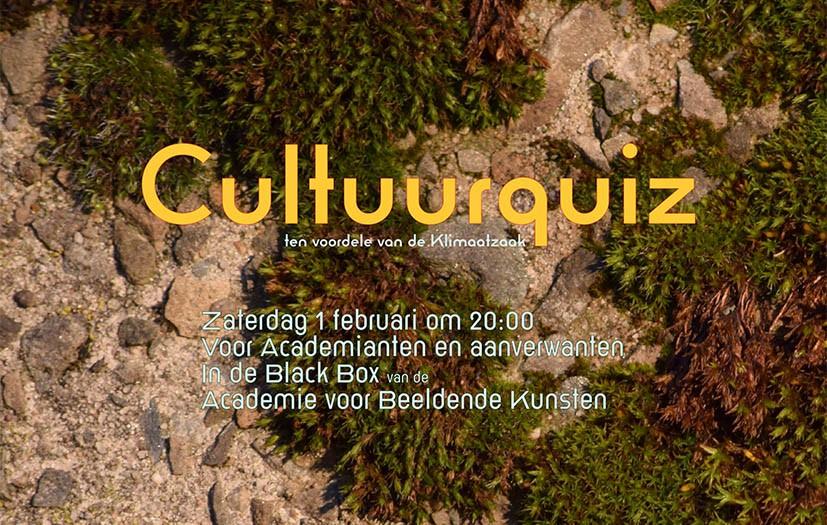 Cultuurquiz 1/2/2020 ten voordele van de Klimaatzaak