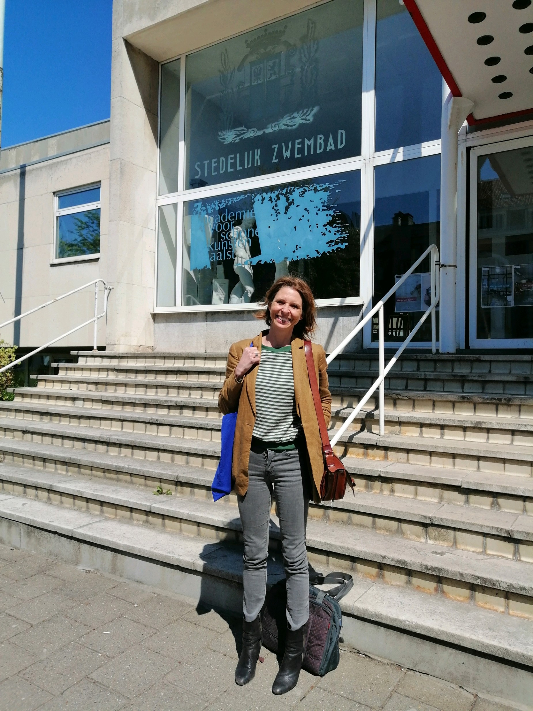 Francesca Vanthielen op MOS bezoek (26/04/2021)