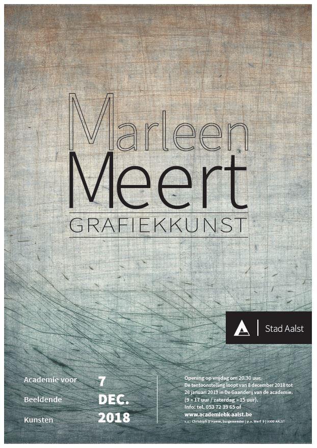 Net gemist in  de Gaanderij: Tentoonstelling: Marleen Meert (Grafiekkunst)