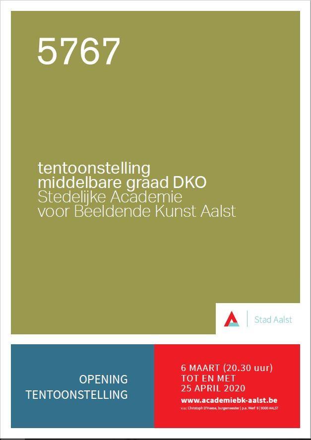 Tentoonstelling  Middelbare Graad DKO Stedelijke Academie voor Beeldende Kunsten Aalst