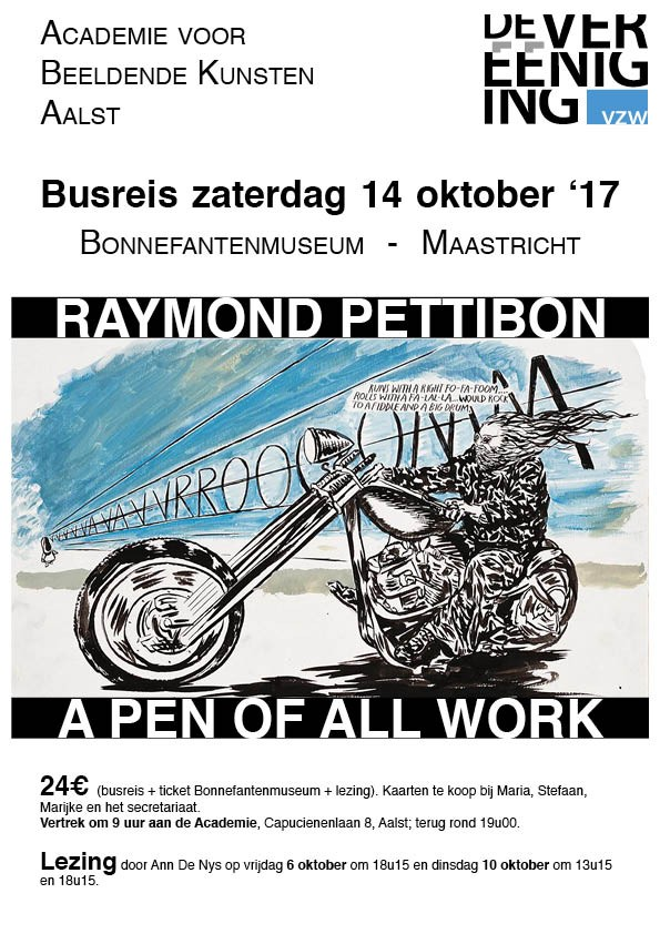 "Uitstap Busreis Raymond Pettibon ""A pen of all work"""
