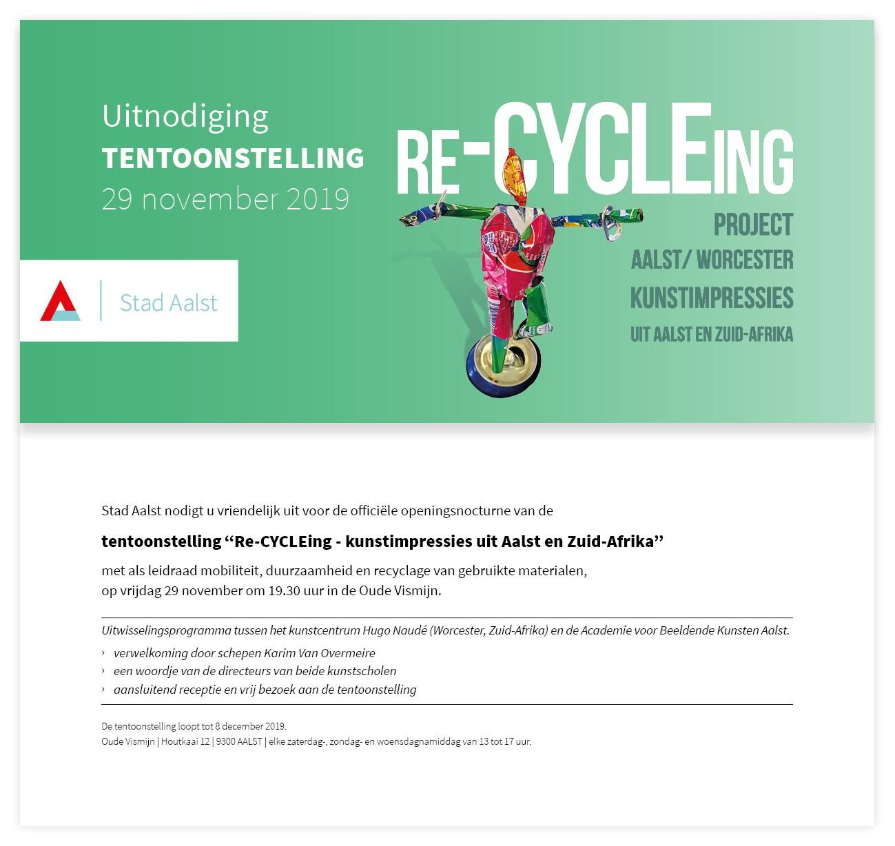 Net gemist: Uitnodiging Tentoonstelling Re-CYCLEing