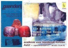 Tentoonstelling / Afstudeerwerk Els Biebaut / Nikolaj Van Sande