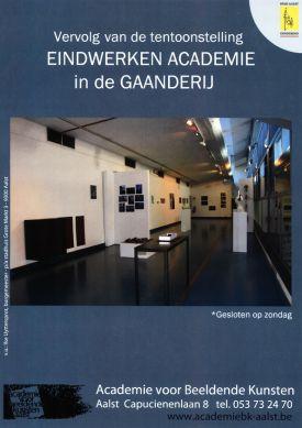 Tentoonstelling / Eindwerken Academie in de Gaanderij